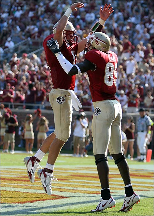 The Seminoles had reason to celebrate, racking up 500 total yards of offense (287 rushing), while limiting the Owls to 241 yards.