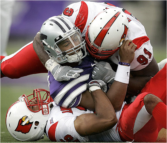 The Cardinals' defense came up huge Saturday, limiting Kansas State to just 13 first downs, while handing the Wildcats their first loss of the season.