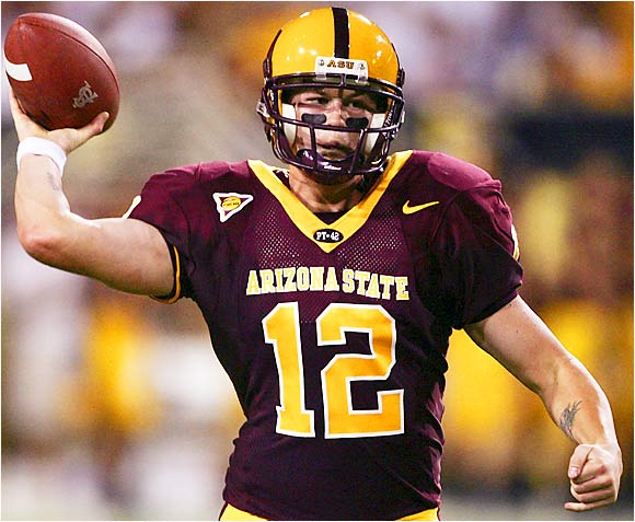 After Dirk Koetter reversed his initial decision and named Carpenter the Sun Devils' starting quarterback, the sophomore came into the season with heightened pressure to perform. Thus far it has been an up-and-down season for the signal-caller who led the nation in passing efficiency last season. While he has thrown for 842 yards and nine touchdowns, he also has four interceptions. It's a safe bet that Carpenter will go after Cal freshman CB Syd'Quan Thompson, who was burned repeatedly by Tennessee.