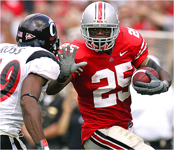 Antonio Pittman had 155 yards rushing and a touchdown as the Buckeyes overcame a slow start.
