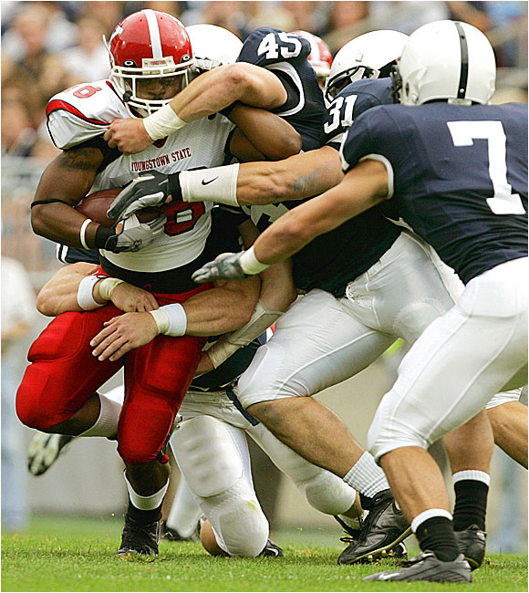 The Nittany Lions' defense held I-AA Youngstown State to 184 yards, including just 41 in the first half.