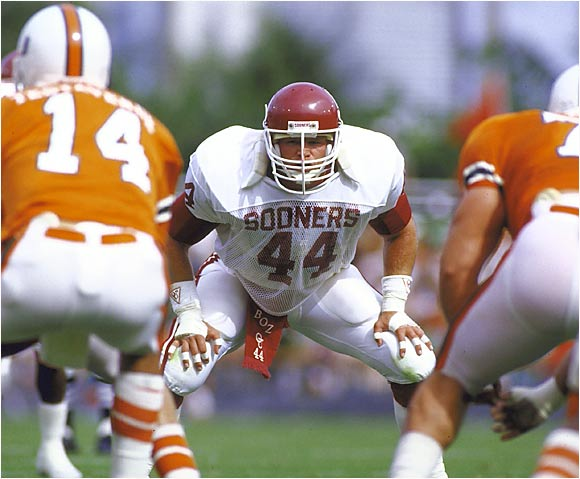 This game pitted Miami QB Vinny Testaverde against Oklahoma linebacker Brian Bosworth. The Boz finished with 14 tackles, but it wasn't enough. Testaverde launched his Heisman Trophy campaign by completing 21 of  28 passes (including a school-record 14 in a row) for 261 yards and four touchdowns.