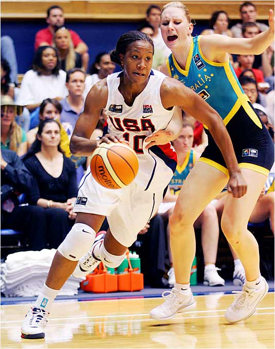 A starter in all nine games for the 2002 world championship team and all eight games for the 2004 Olympic gold-medal-winning squad, Tamika Catchings is one of the greatest hustlers the game has ever known. She had a team-leading six steals for the U.S. through its first two games in Brazil.