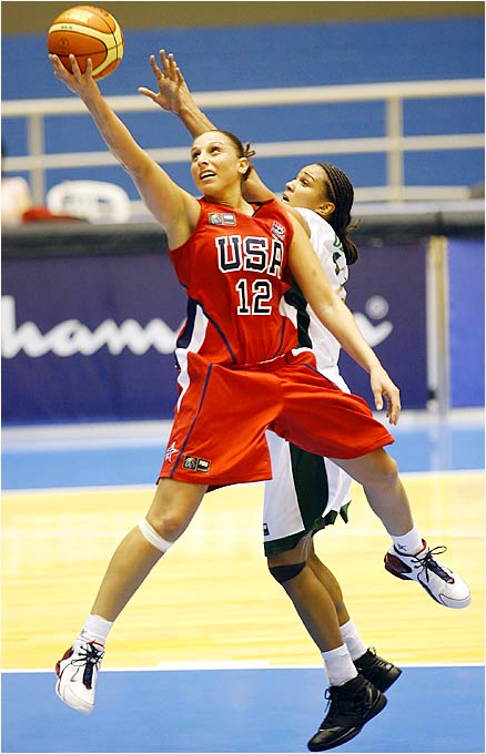 Diana Taurasi, who led Connecticut to three NCAA titles and helped the U.S. win a gold medal in Athens, scored 17 points in an opening-day 119-72 victory over China and had four points against Nigeria.