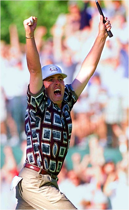 Justin Leonard's 45-foot putt sealed a miracle comeback for the U.S. -- and set off a controversial celebration.