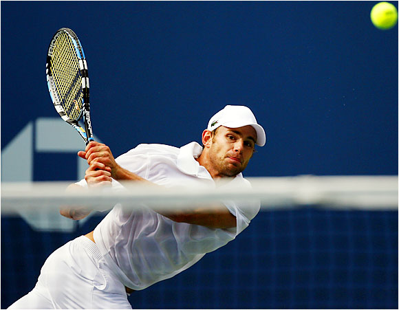 Andy Roddick looked impressive in reaching the semifinals of the U.S. Open, with his serve topping out at 142 mph and his confidence buoyed by his new coach, Jimmy Connors.
