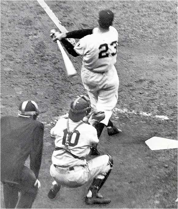 On Aug. 11, the Dodgers led the Giants by 13 1/2 games, but the Giants won 16 in a row at one point and went 37-7 overall before winning a three-game playoff, which culminated in Bobby Thomson's Shot Heard 'Round the World.