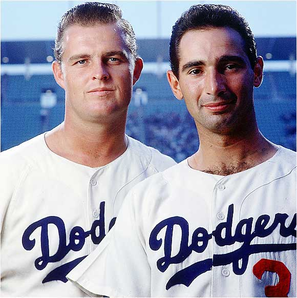 Even the awesome duo of Don Drysdale (25-9) and Sandy Koufax (14-7) couldn't stave off this fade. The Dodgers lost 10 of their final 13 (including their last four in a row) to blow a four-game lead to the Giants in the final week of the season. A three-game playoff for the NL pennant ensued, won by the Giants.