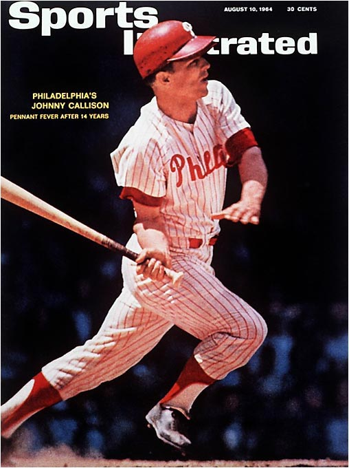On Sept. 21, slugger Johnny Callison and the Phillies led St. Louis and Cincinnati by 6 1/2 games with 12 to play. Philadelphia lost 10 in a row and lost the NL pennant to St. Louis. If the Cardinals had lost on the final day of the season, an unprecedented three-team playoff between St. Louis, the Reds and the Phillies would have resulted. Of course, the Cards won.