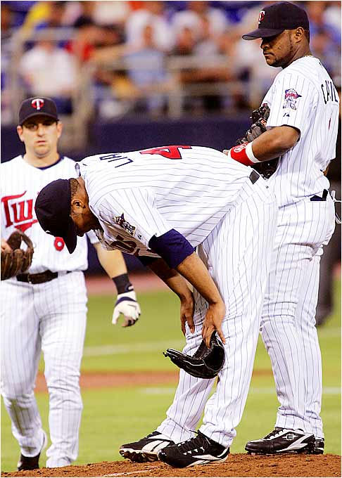 In his highly anticipated return from a one-month stint on the DL, Twins starting pitcher Francisco Liriano reinjured his left elbow in the third inning against the A's on Sept. 13. Despite favorable test results showing no new structural damage, the Twins' left-hander will not take the mound again this year.