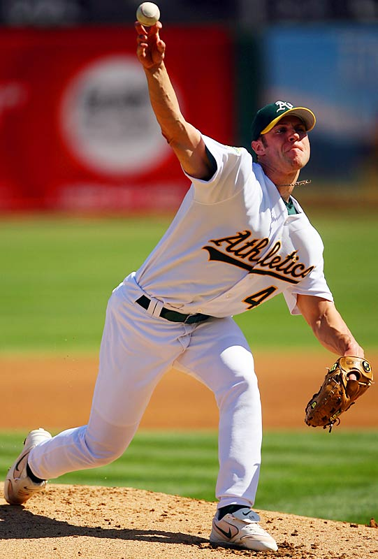 A's starter Rich Harden returned to the rotation on Sept. 21 against the Indians, pitching his first game since suffering a strained ligament in his right elbow on June 4. Despite being limited to 55 pitches, Harden looked impressive, with seven strikeouts over three innings in a 7-4 win.