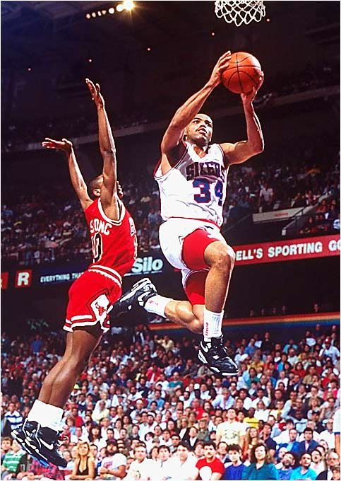 Charles was known for his toughness, but occasionally he could sky to the basket.