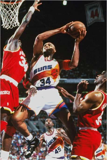 Barkley took on Hakeem Olajuwon ... then eventually became his teammate.