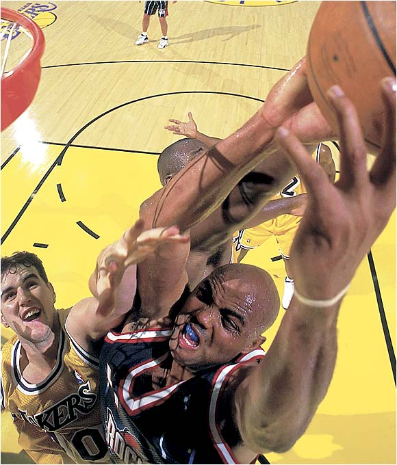 Barkley ranks in the top 20 in career scoring with 23,757 points.