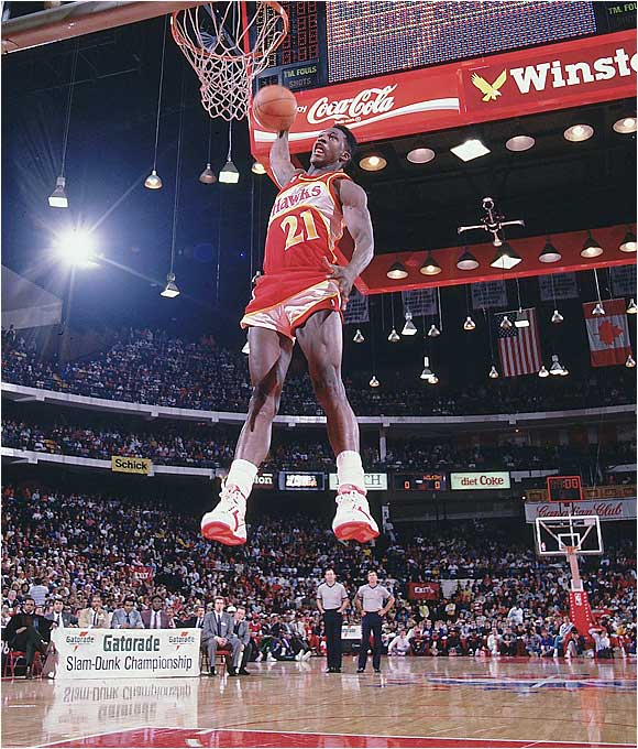 Human Highlight Film? Now you know why. Dominique Wilkins, the Slam Dunk champion in a memorable 1985 duel with Michael Jordan, knew how to fly.
