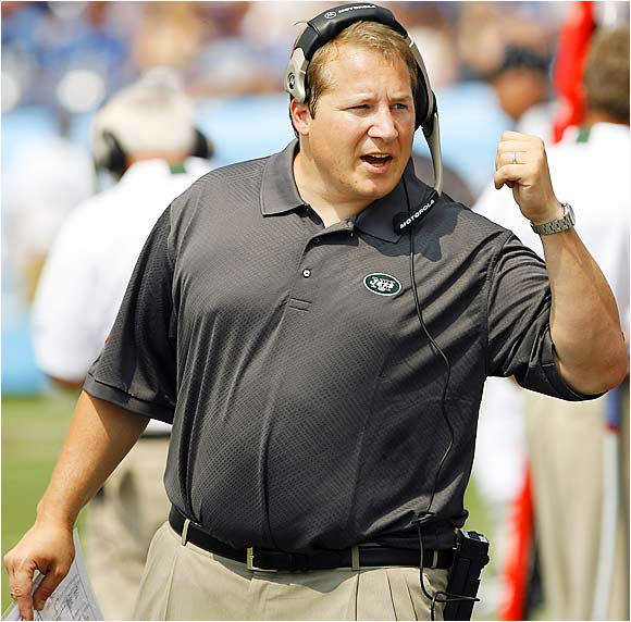 With the Jets' win over the Titans, New York head coach Eric Mangini -- who is 35 years, 234 days old -- became the third-youngest first-year NFL head coach to win his first game. Cincinnati's Dave Shula (33) and Pittsburgh's Bill Cowher (35 years, 121 days) both won their debuts. And both were on Sept. 6, 1992.