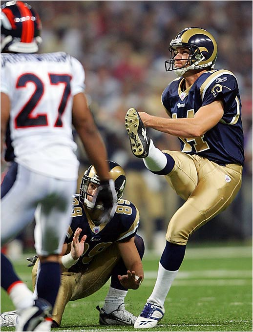 Jeff Wilkins made six field goals Sunday and scored all 18 of the Rams' points in an 18-10 win over the Broncos. He became the second kicker in NFL history to make six or more field goals and score all his team's points twice in a career -- and the first to do it with two teams. In 1993 John Carney twice made six field goals in games in which the Chargers scored 18 points. Others to make six or more field goals and score all their team's points: Bobby Howfield of the Jets in an 18-17 win over the Saints in 1972, Tom Dempsey of the Eagles in an 18-17 win over the Astros in 1972, and Chris Boniol of the Cowboys in a 21-6 win over the Packers in 1996.