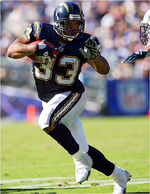 Michael Turner of the Chargers ran for 138 yards on 13 carries against the Titans, the most yards by a running back on 13 or fewer carries in six years, since Tiki Barber was 13-for-144 against the Cards on Sept. 3, 2000.