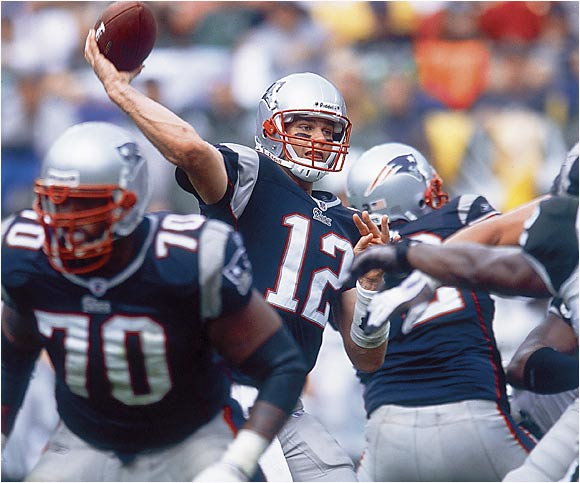His idol growing up was Montana, and the Patriots' quarterback is doing everything he can to emulate his hero. Brady's game seems to get better as the stakes get higher, and he's already led New England to three Super Bowl titles.
