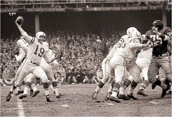 Johnny U led the Colts to two championships and brought the NFL to new levels of popularity in the 1950s and '60s. The unheralded passer out of Louisville rewrote the NFL record book, ending his career with 40,239 passing yards and 290 touchdowns.
