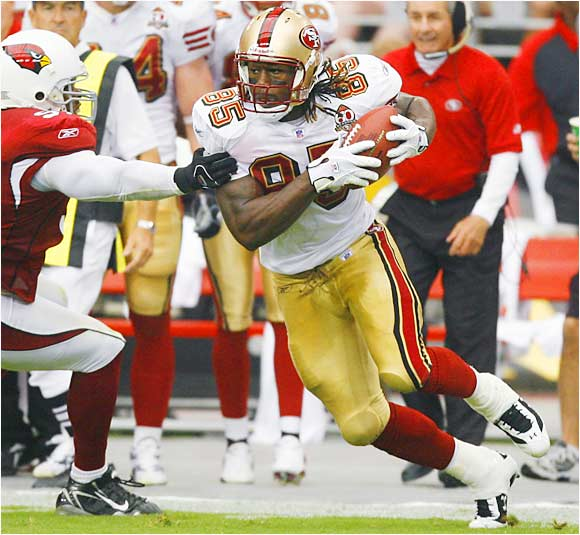 He had very good moments -- including an impressive 31-yard touchdown reception -- but also made several mistakes in the Niners' season-opening loss. He stays on the list since it's clear he'll be a big part of San Francisco's offense.