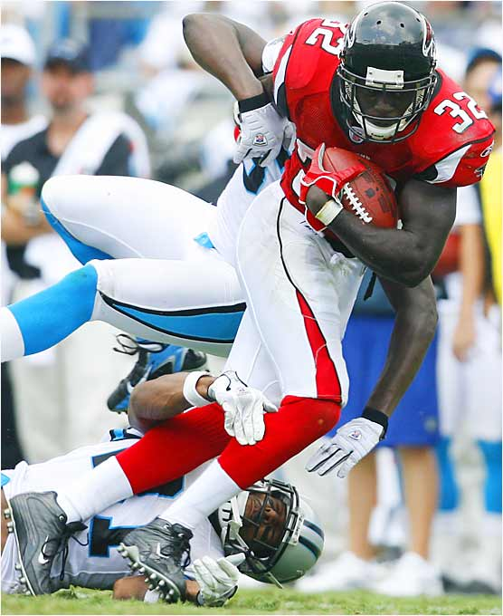 Every week we will rank the 10 highest-impact rookies of the NFL season. Let's begin with the speedy Norwood, who ran for 66 yards on 10 carries in the Falcons' 20-6 win over the Panthers. He appears to be the perfect running back to complement starter Warrick Dunn and should be a major headache for opposing defenses.