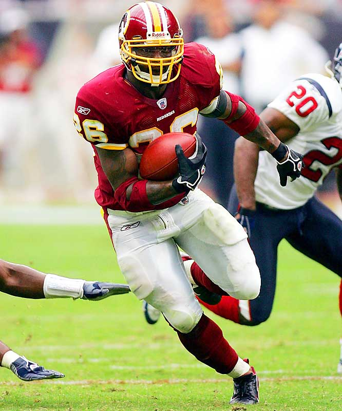 Number: 74 <br><br>Clinton Portis' 74-yard catch and run from Mark Brunell against the Texans matched the longest reception by a running back since Warrick Dunn's 86-yarder from Doug Johnson against the Saints in 2003. LaDainian Tomlinson had a 74-yarder against the Colts in 2004.