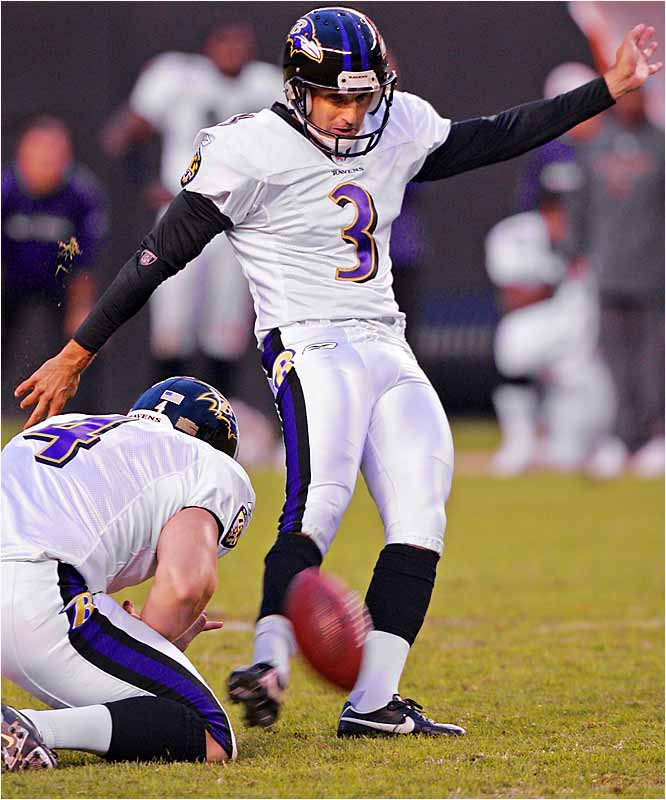 Matt Stover booted a 52-yard field goal with 20 seconds left to beat the Browns 15-14 and give Baltimore its first 3-0 start to a season.