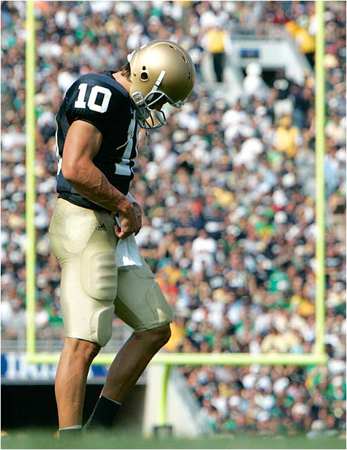 Brady Quinn had a terrific day in front of a sellout crowd of 80,795 in South Bend.