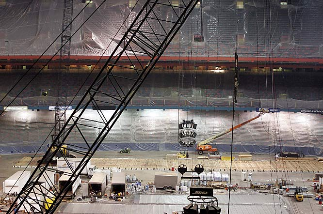 Eight months after Hurricane Katrina, construction crews were inside the Superdome, readying it for the 2006 NFL season.
