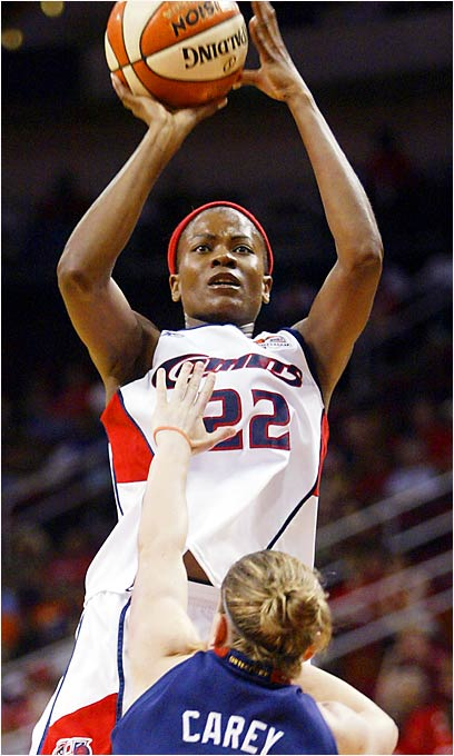 Her name connotes a ball hawk, so it's only fitting that Swoopes is a three-time WNBA Defensive Player of the Year who, at age 35, ranked this season among the league's top three in steals (64) and top 10 in rebounds (148). The two-time WNBA MVP is only the third player in league history to score 4,000 points.