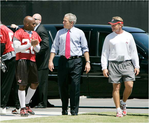 Things were so bad for the 0-2 Bucs that coach Jon Gruden called in the President to give the team a pep talk.