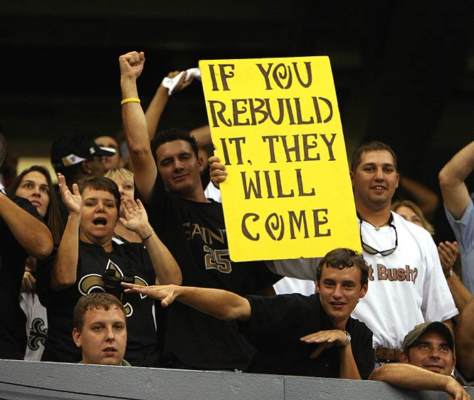 Saints fans got to see their team play a regular-season home game for the first time since 2004.