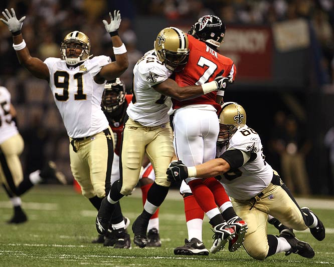 The Saints' defense came up huge, shutting down Michael Vick, who went 12-for-31 for only 137 yards.