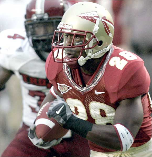 Lorenzo Booker and the Seminoles' running game struggled again, totaling 45 total yards in squeaking past the Trojans.