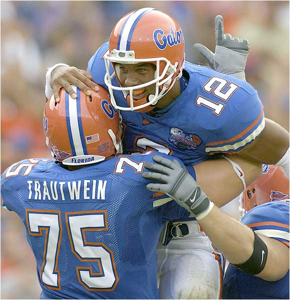 Chris Leak (12) led the Gators' offense, throwing for a career-high 352 yards and four touchdowns.