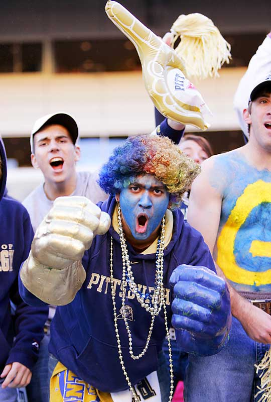 This Pitt fan hoped the Panthers could punch out undefeated Big East rival Rutgers. Unfortunately, the Scarlet Knights' Ray Rice had other ideas as he rushed for 229 yards and a touchdown in Rutgers' 20-10 victory.