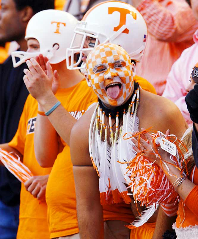 Tennessee's No. 1 fan cheered on the Vols during their 16-13 victory over Alabama on Saturday.