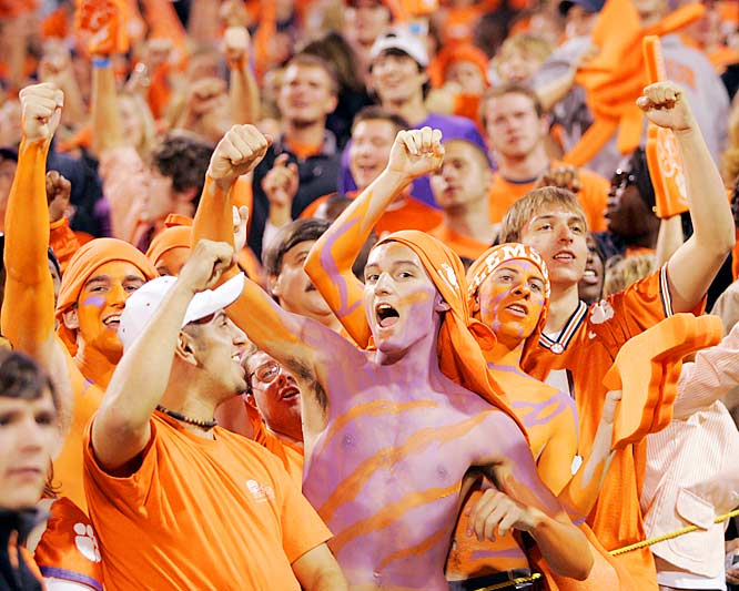 Tigers fans celebrated after RB CJ Spiller broke through for a 50-yard run in the third quarter of Saturday's victory over Georgia Tech.