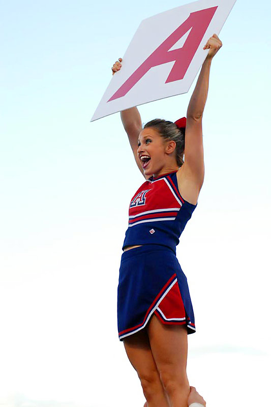 Taylor Hendrickson, a senior from Phoenix, is a Marketing major and captain of the Arizona cheerleading squad. When she's not cheering on the Wildcats, Taylor likes to listen to country music, watch the Phoenix Suns and eat italian food. To find out more about Taylor, click on the 20 questions link below.
