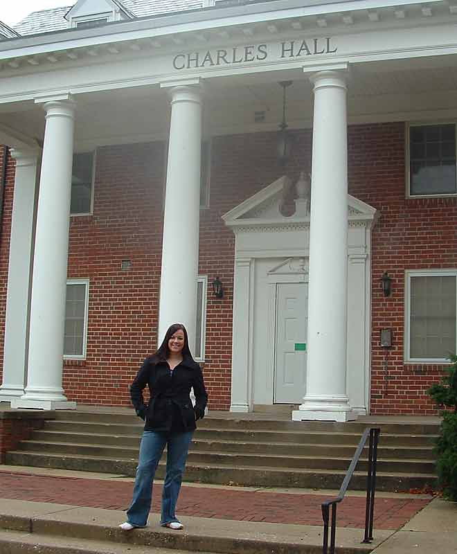 Alexandra Gagne, a freshman softball player at the University of Maryland, lives in an athletic suite at Charles Hall on the school's South Campus. She shares the suite with a teammate and four members of the volleyball team.