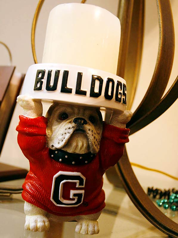 It's not a UGA football players house without the Georgia paraphanalia -- which sits on a table in the living room.