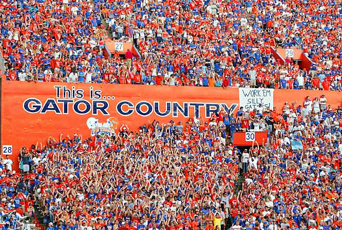 Florida fans let everyone know that once you enter The Swamp, you're in Gator Country.