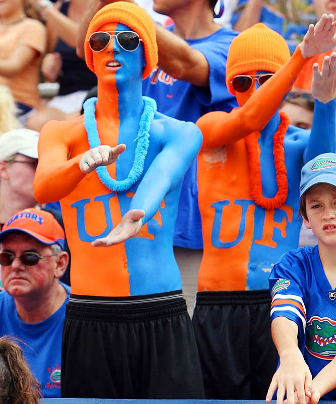 SIOC gives these Gators fans an A  for their perfect chest paint.