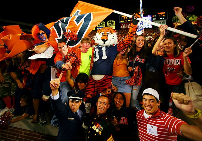 Everyone went home happy -- the fans and the Tiger -- after Auburn's 27-17 victory over Florida.