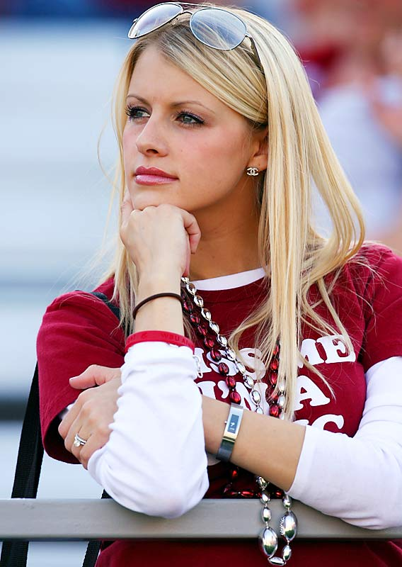 A Washington State fan watched intently as her Cougars fell to Cal, 21-3.