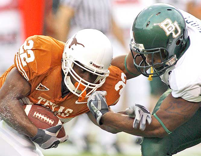 Selvin Young and the Longhorns rolled over Baylor to seize sole possession of first place in the Big 12 South.