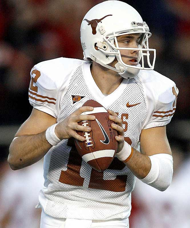Who needs Vince Young? Texas quarterback Colt McCoy rushed for 68 yards, to go along with 256 passing yards and four touchdowns, to rally the Longhorns past pesky Texas Tech.