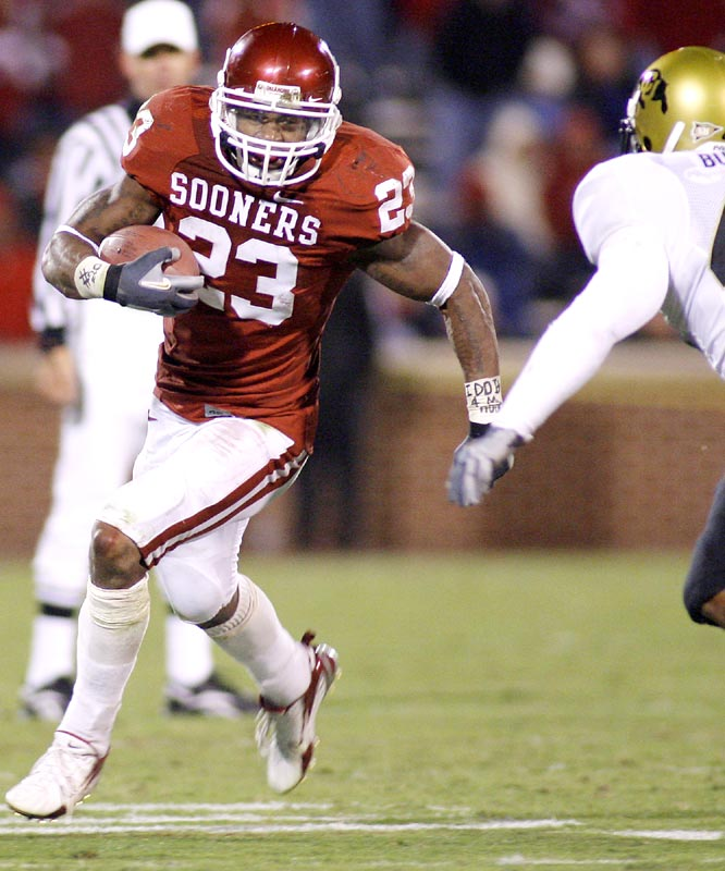 Allen Patrick filled in for injured Adrian Peterson, running for 110 yards and a fourth-quarter touchdown in the Sooners' win.