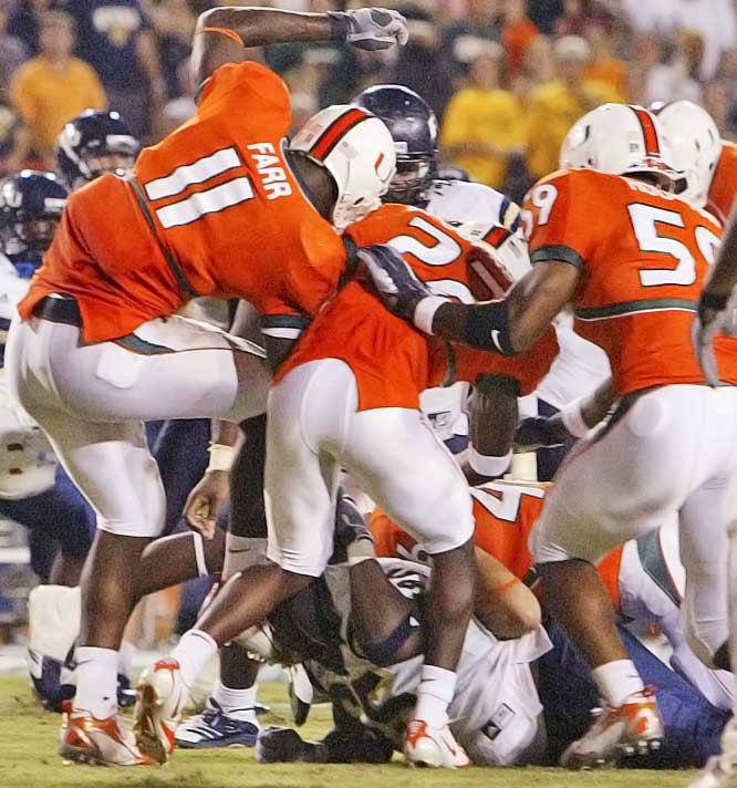 "Former Hurricanes player turned broadcaster Lamar Thomas apparently was in favor of the ugly brawl between Miami and FIU at the Orange Bowl on Saturday night. Said Thomas during the brawl: ""Now that's what I'm talking about. You come into our house, you should get your behind kicked. You don't come into the OB playing that stuff. You're across the ocean over there. You're across the city. You can't come over to our place talking noise like that. You'll get your butt beat. I was about to go down the elevator to get in that thing. I say, why don't they just meet outside in the tunnel after the ball game and get it on some more? You don't come into the OB, baby. We've had a down couple years, but you don't come in here talking smack. Not in our house."" Thomas was fired for his comments."